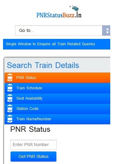 PNR Status Buzz Apps Screenshot